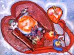 open heart with door